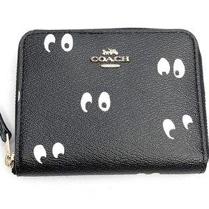 Coach Disney Snow White Spooky Eyes Zip Wallet NEW